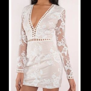 NWOT❗️IT AIN'T ME WHITE EMBROIDERED BODYCON